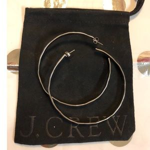 Jcrew hammered hoops silver